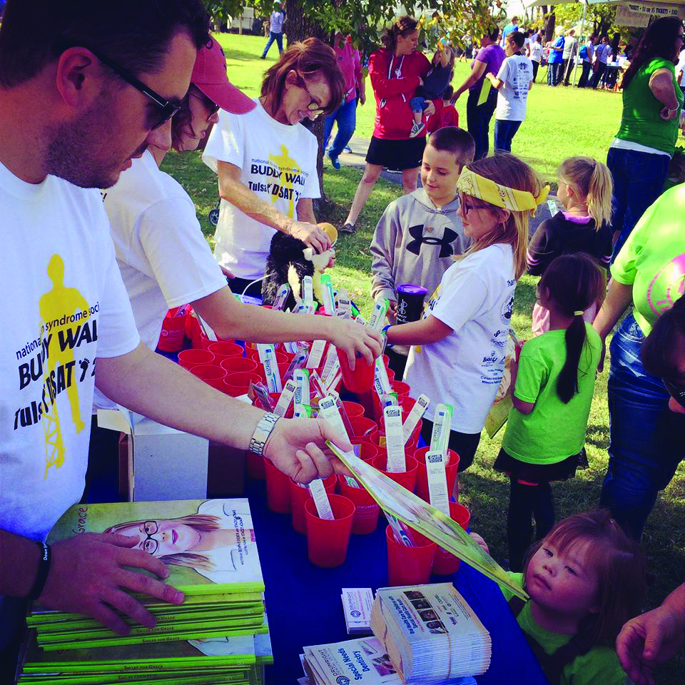 Drumright Dental Center team members hand out toothbrushes and dental care information at the Oklahoma Special Olympics