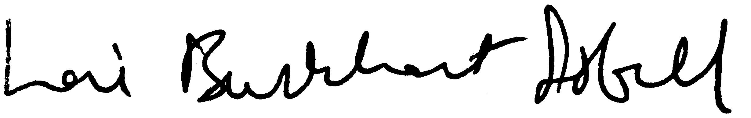 Lori Brukhart Isbell Signature