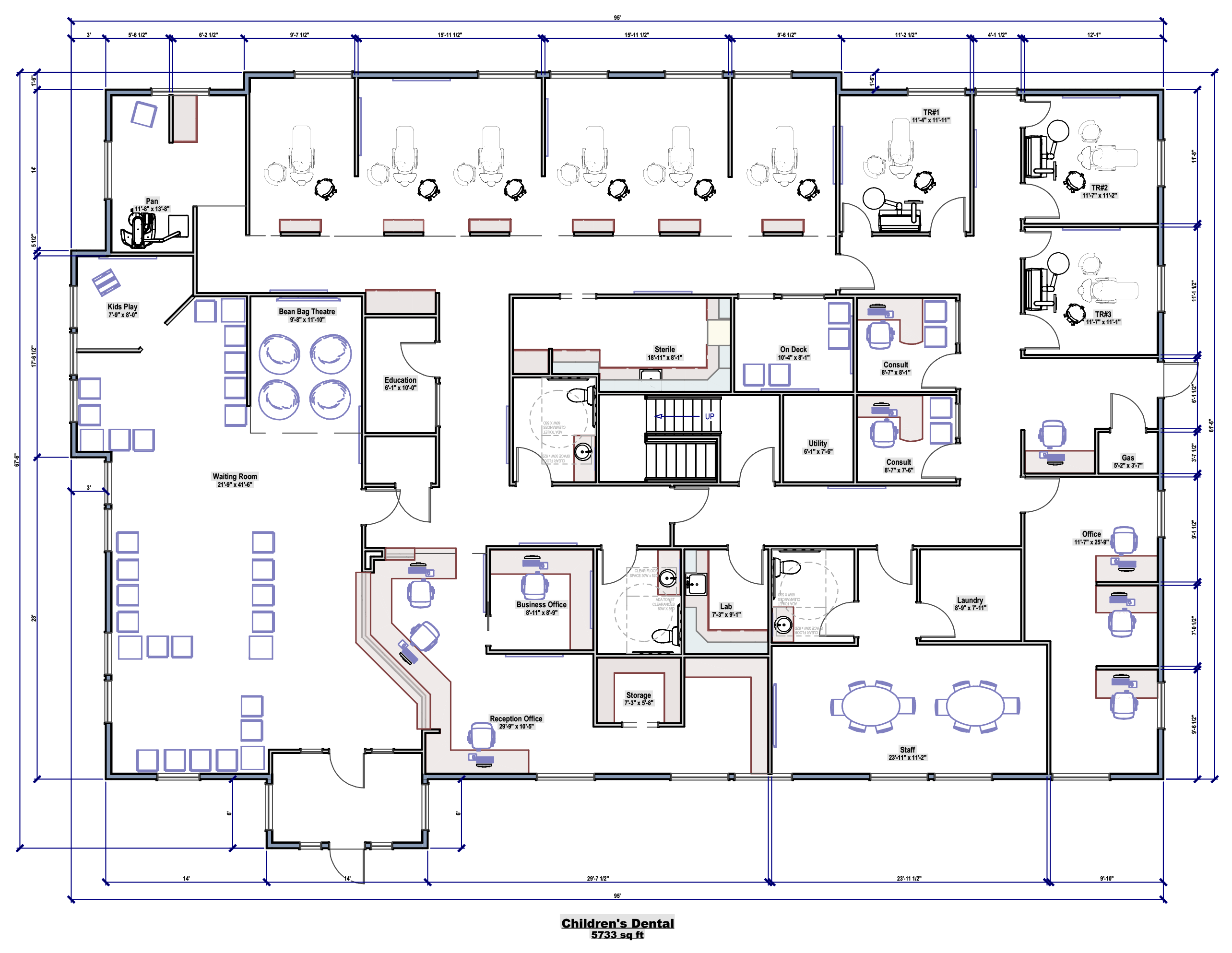 Children's Dental office planning and design – floorplan