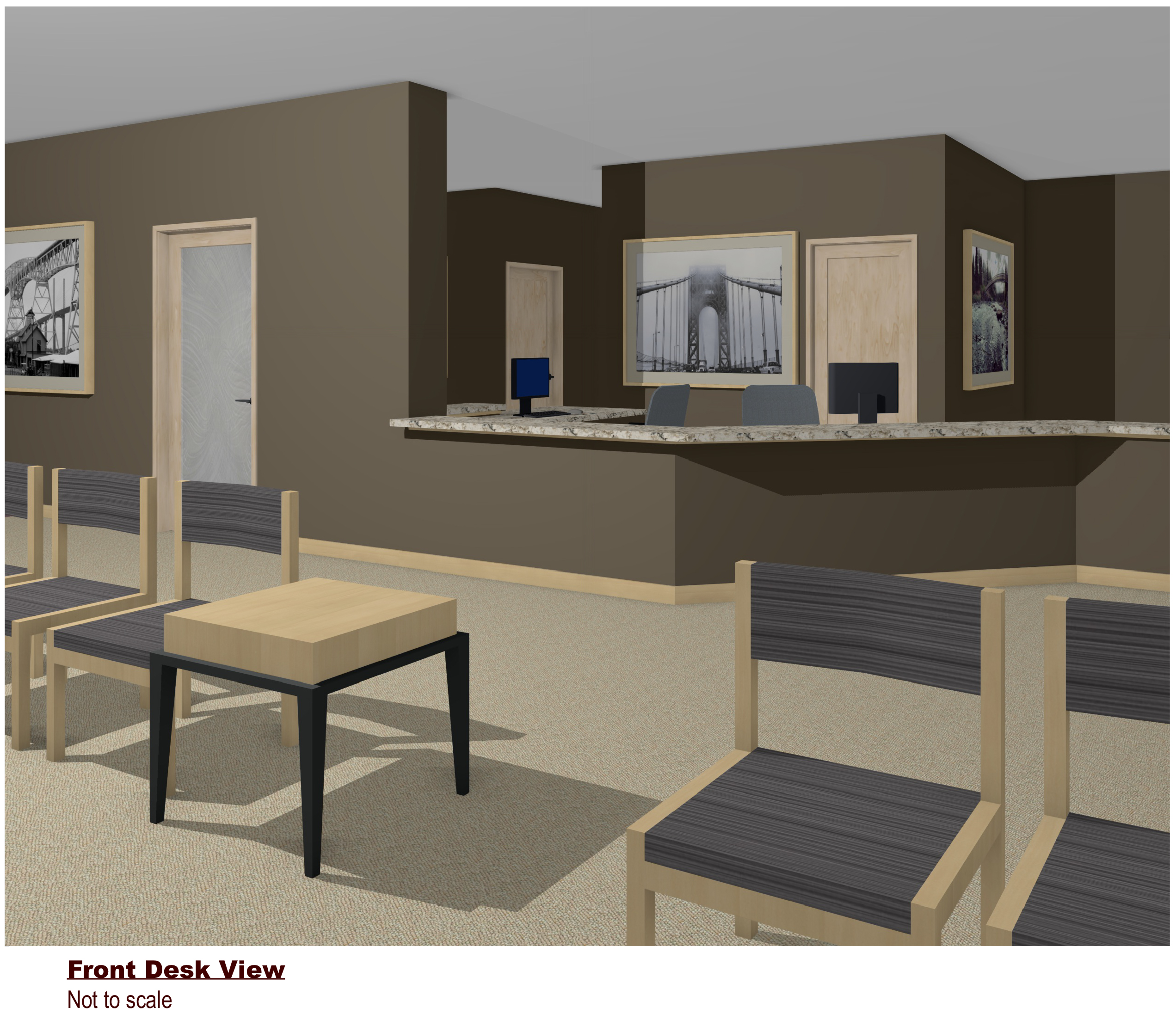 Children's Dental office planning and design – Front Desk View