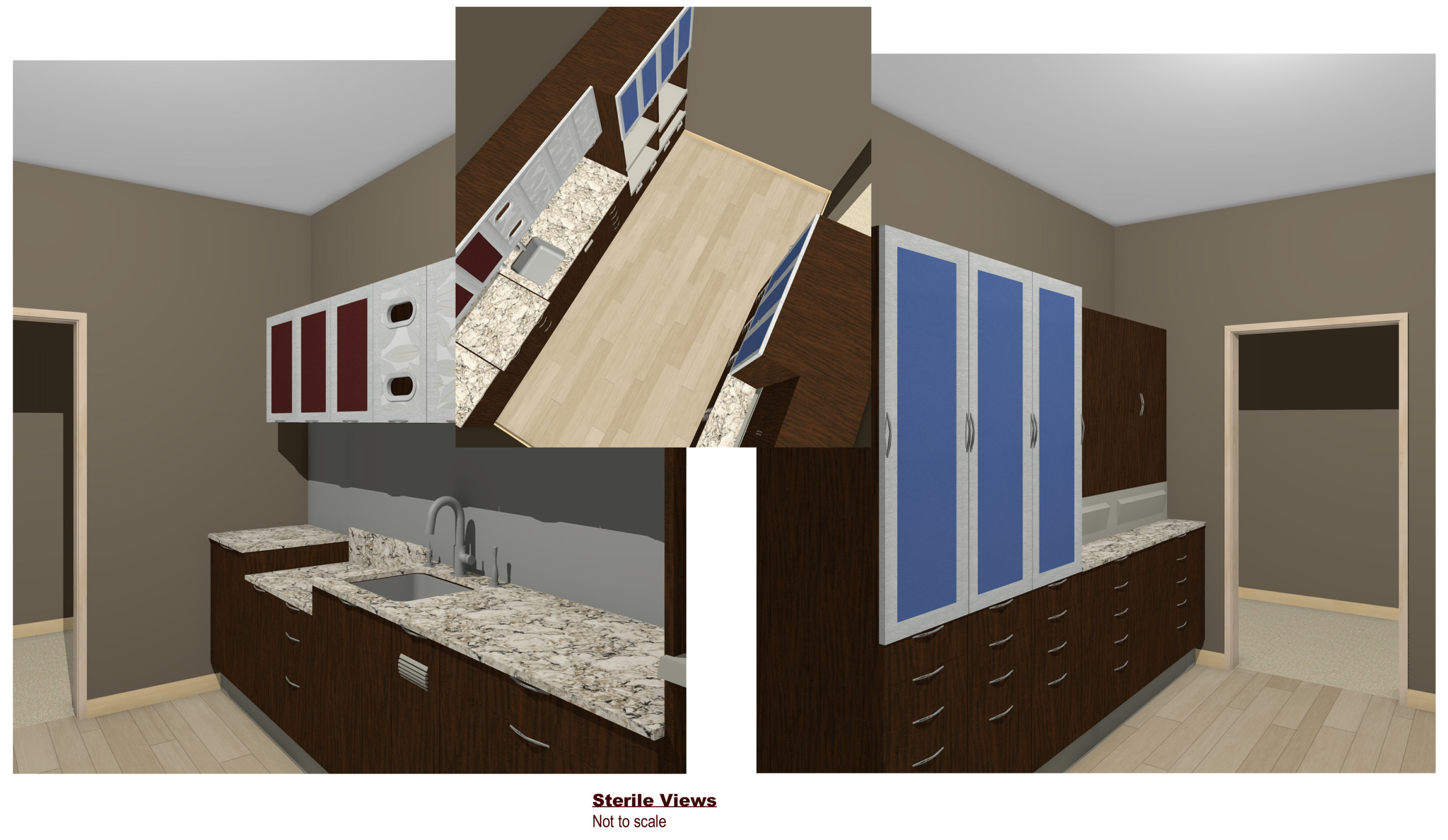 Gallatin Valley dental office design 3D renderings – sterile views