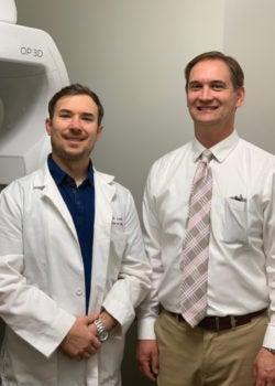Left: Dr. Craig Lowrie, Dentist, Advanced Family Dentistry. Right: Arne Valdez, Burkhart Account Manager.