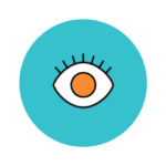 A wide open eye icon showcasing enhanced patient perception of the practice