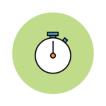 A stopwatch icon symbolizing improved efficiency