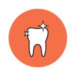 A sparkly tooth icon showcasing improved patient outcomes