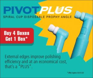 PivotPlus – Spiral Cup Disposable Prophy Angle, Buy 4 Boxes, Get 1 Box* – Preventech
