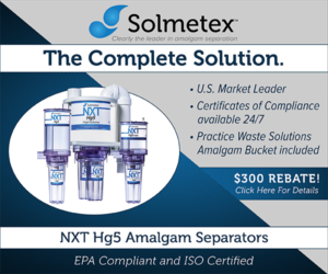 Solmetex – The Complete Solution, NXT Hg5 Amalgam Separators, $300 Rebate