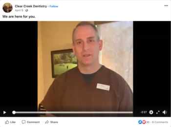 Clear Creek Dentistry – We are here for you