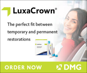Banner ad showcasing DMG's LuxaCrown product.aBanner ad showcasing DMG's LuxaCrown product. 3