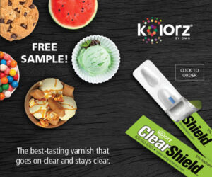 Kolorz by DMG Banner Ad. Buy 3, get 1 FREE! The best-tasting varnish that goes on clear and stays clear. Order Today!
